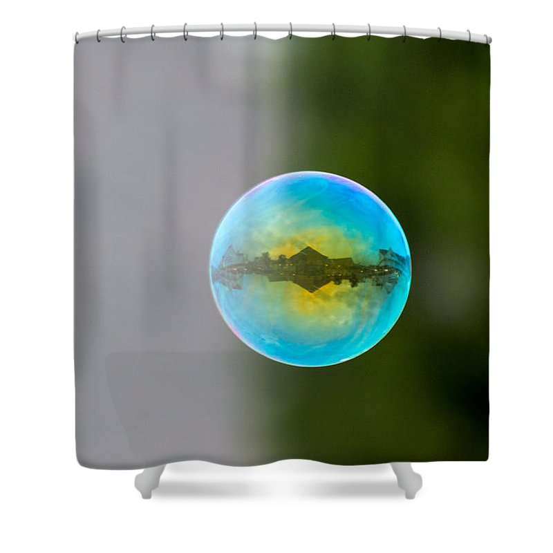 Bubble Shower Curtain featuring the photograph Bubble by Gaurav Singh