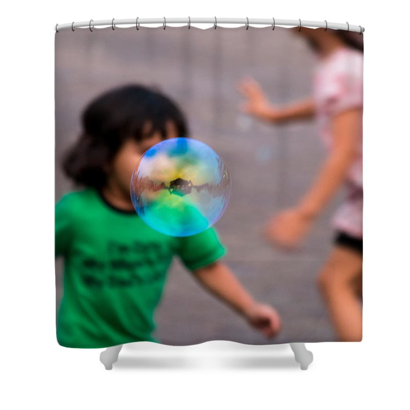 Bubbles Shower Curtain featuring the photograph Bubbles by Gaurav Singh
