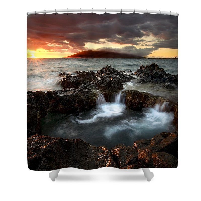 Sunset Shower Curtain featuring the photograph Bubbling Cauldron by Mike Dawson