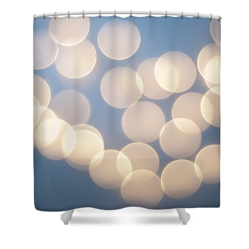 Blue Glow Shower Curtains