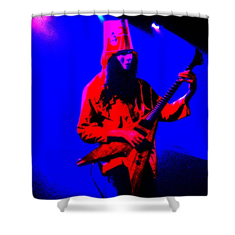 Buckethead Shower Curtain featuring the photograph Buckethead-12c-1 by Gary Gingrich Galleries