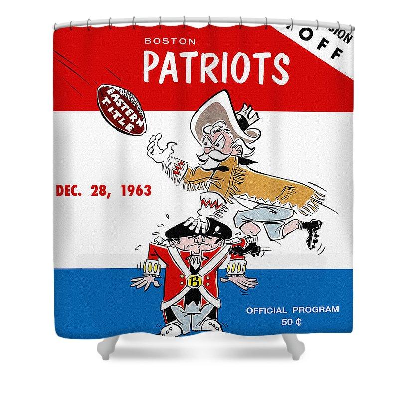 Buffalo Bills Shower Curtain featuring the painting Buffalo Bills 1963 Playoff Program by John Farr