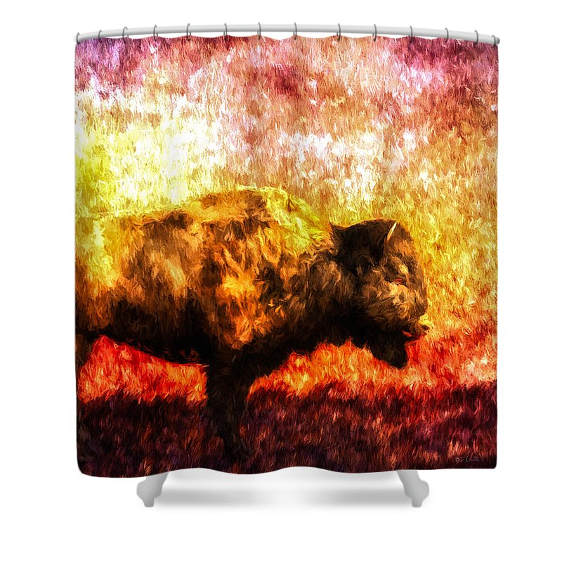 Buffalo Shower Curtain featuring the painting Buffalo by Bob Orsillo