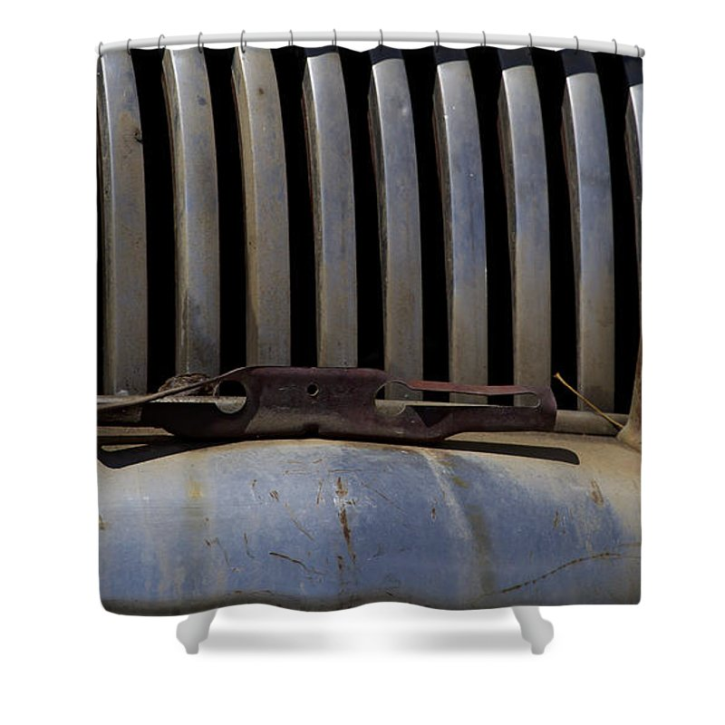 Car Shower Curtain featuring the photograph Buick Teeth  #3833 by J L Woody Wooden