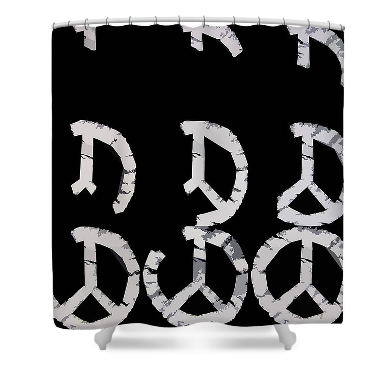 Peace Shower Curtain featuring the digital art Build Up Peace by Michelle Calkins