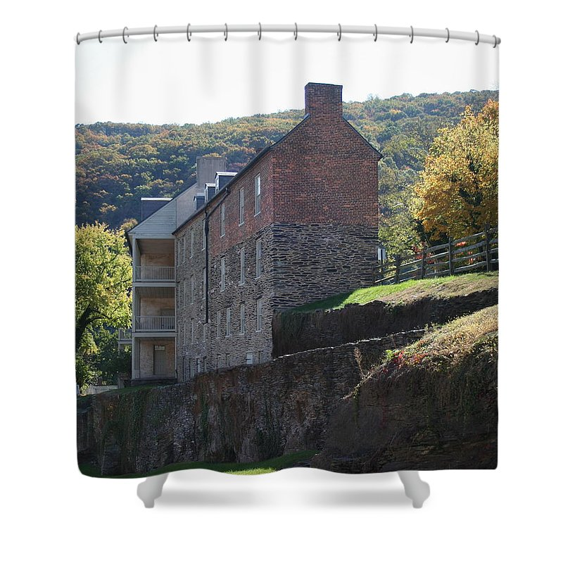 Rock Shower Curtain featuring the photograph Built On A Rock by Rebecca Smith