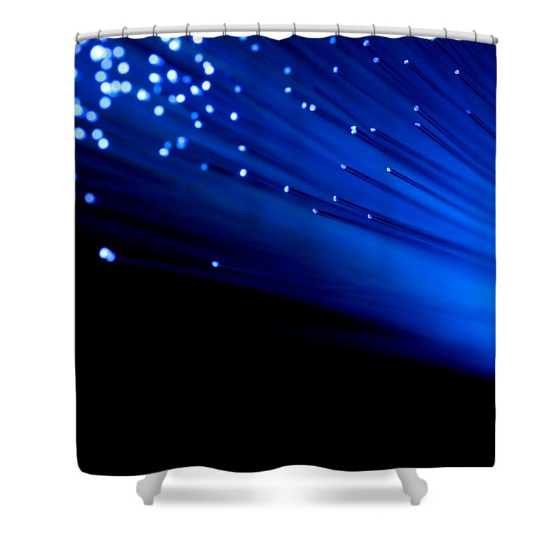 Abstract Shower Curtain featuring the photograph Bullet The Blue Sky by Dazzle Zazz