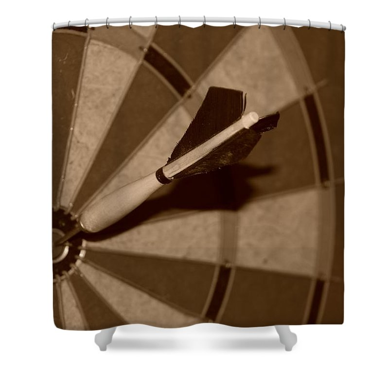 Macro Shower Curtain featuring the photograph Bullseye Baby by Rob Hans