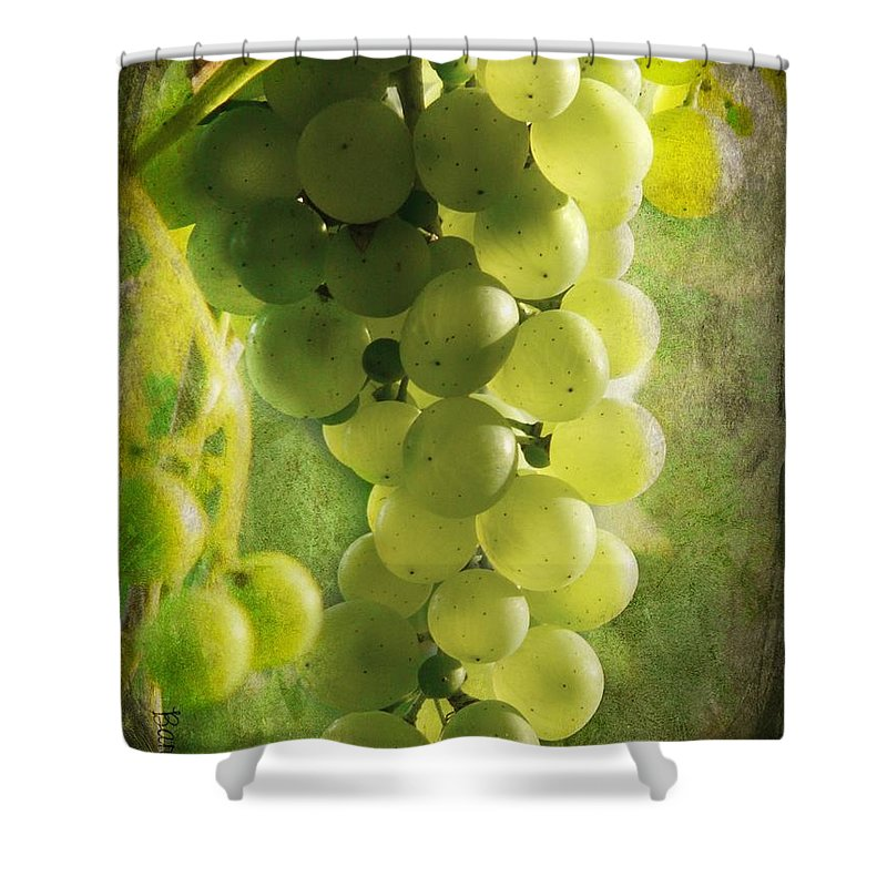 Grape Shower Curtain featuring the photograph Bunch Of Yellow Grapes by Barbara Orenya