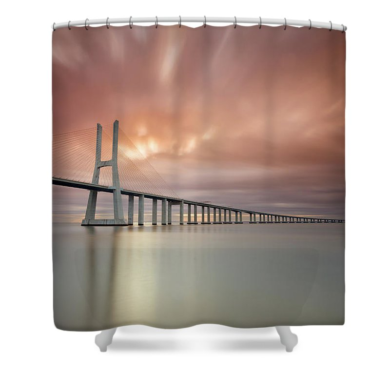 Tranquility Shower Curtain featuring the photograph Burn, Fire Burn by Landscape Photography