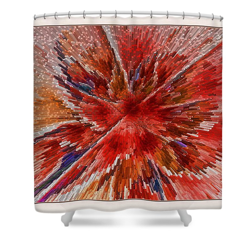 Fractal Shower Curtain featuring the digital art Burning Passion Of Love by Deborah Benoit
