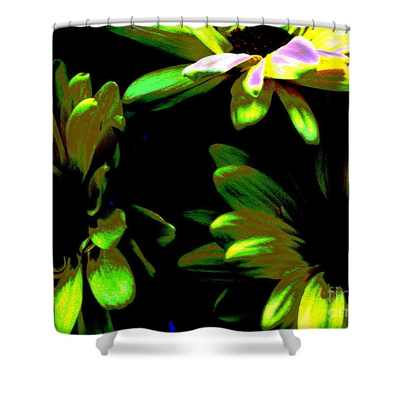 Art For The Wall...patzer Photography Shower Curtain featuring the photograph Burst by Greg Patzer