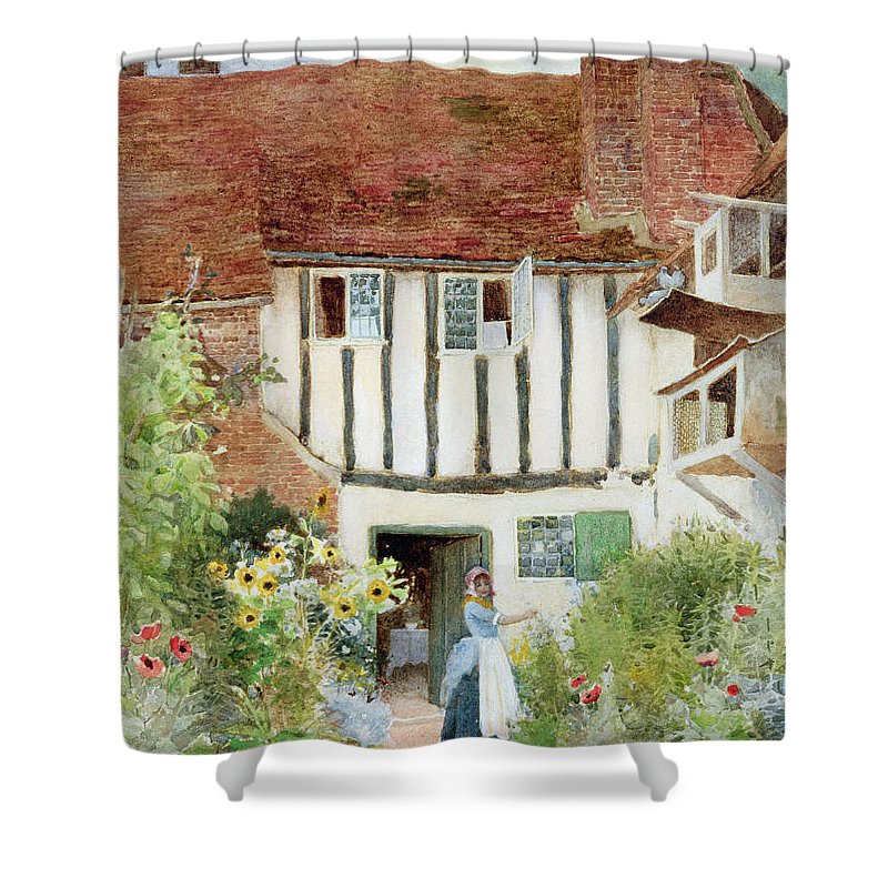 Butterfly Shower Curtain featuring the painting Butterflies by Arthur Claude Strachan