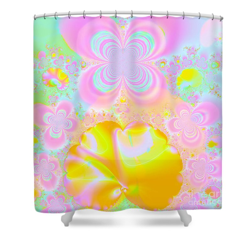 Butterfly Shower Curtain featuring the digital art Butterfly Garden by Terry Weaver