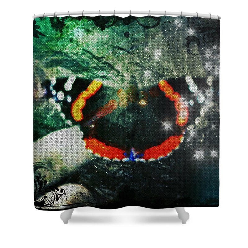 Butterfly Shower Curtain featuring the digital art Butterfly Magick by Absinthe Art By Michelle LeAnn Scott