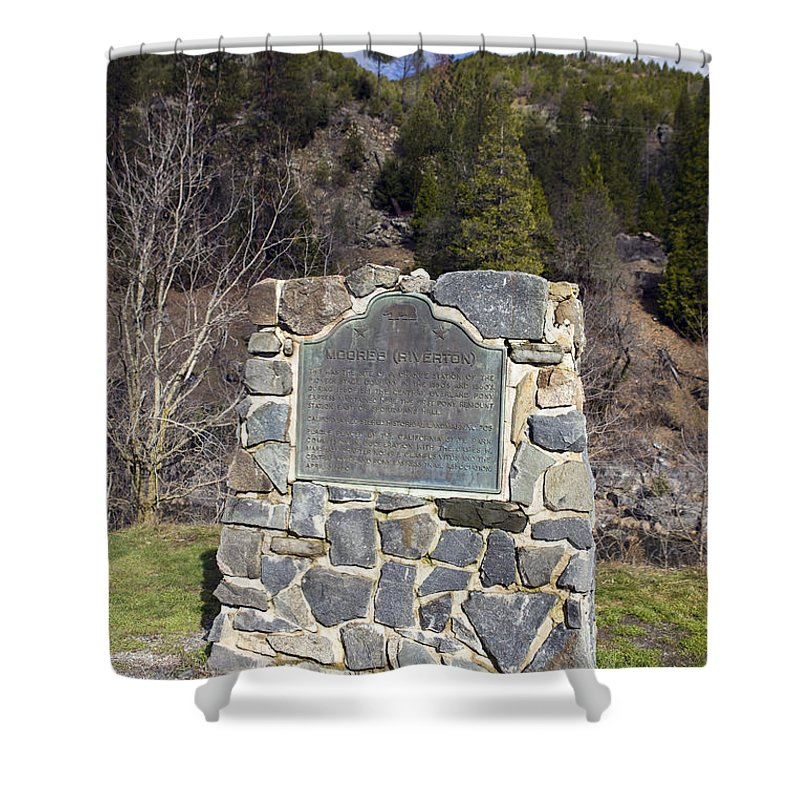 Travel Shower Curtain featuring the photograph Ca-705 Moores Riverton by Jason O Watson