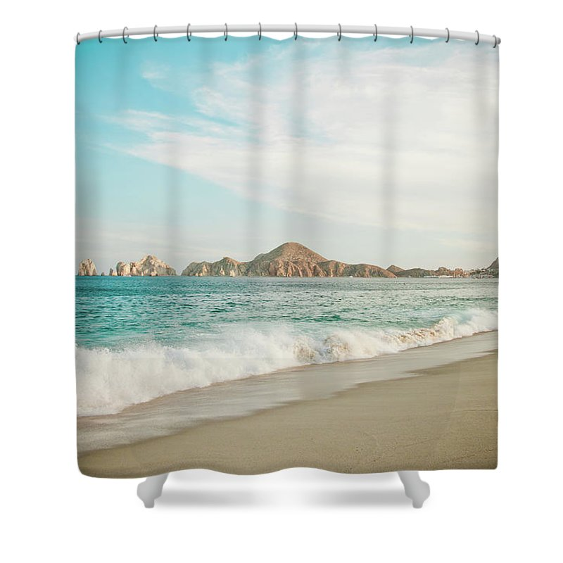 Water's Edge Shower Curtain featuring the photograph Cabos San Lucas by Christopher Kimmel