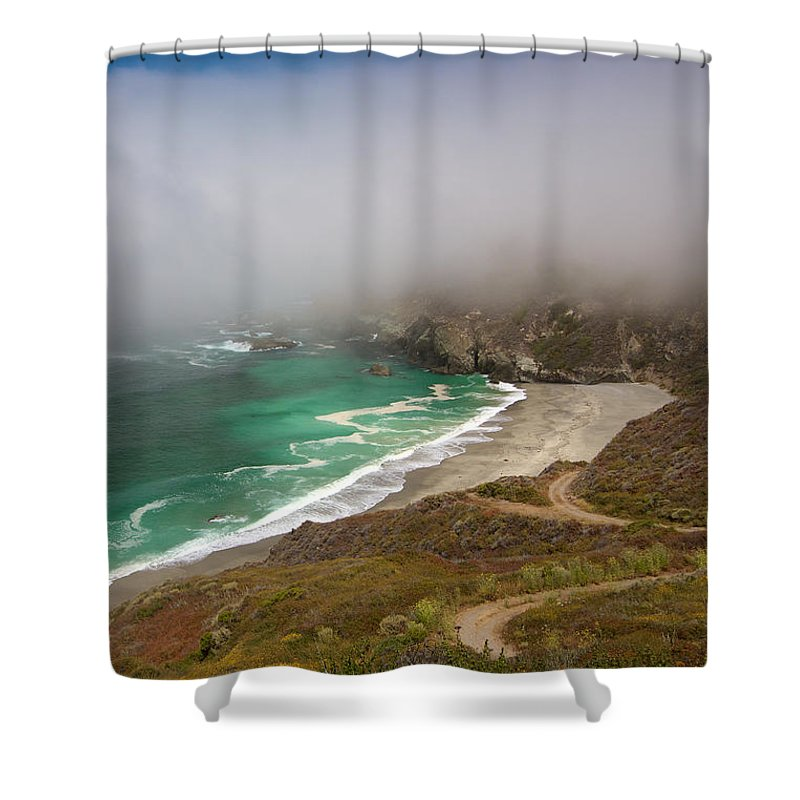 Monterey Shower Curtain featuring the photograph Cabrillo Sea Fog by David Beebe