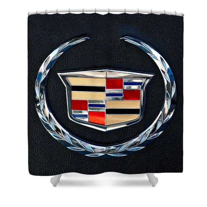 Cadillac Emblem Shower Curtain featuring the photograph Cadillac Emblem by Jill Reger
