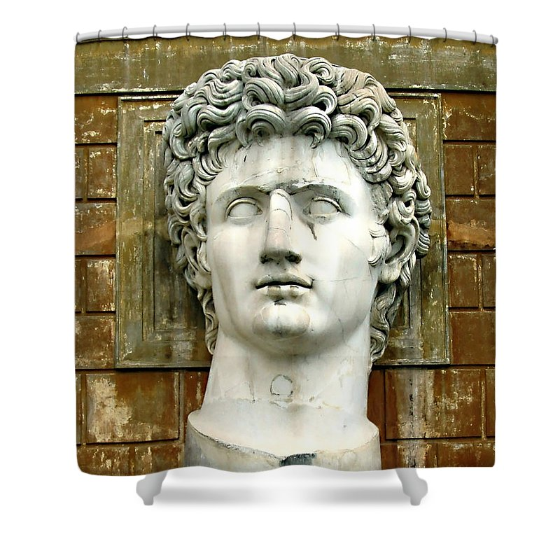 Caesar Augustus Shower Curtain featuring the photograph Caesar Augustus by Ellen Henneke