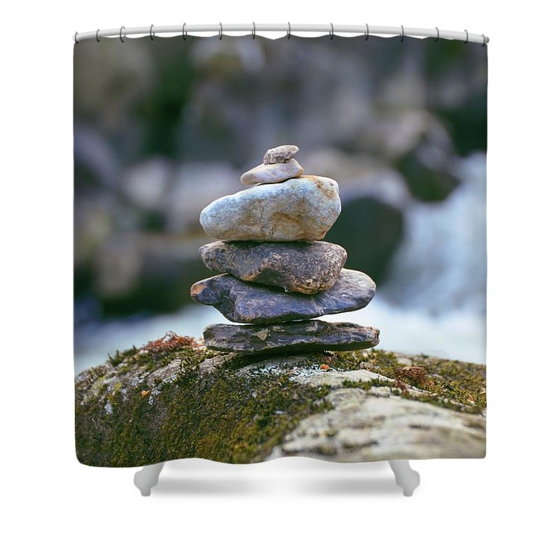 Cairn Shower Curtain featuring the photograph Cairn by Bill Cannon