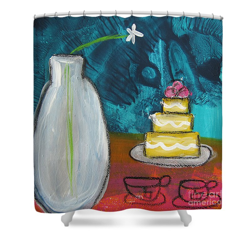 Wedding Cake Shower Curtains