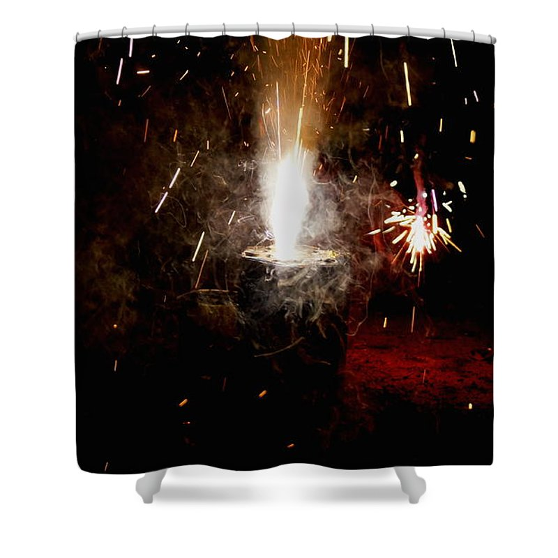 Shower Curtain featuring the photograph Cake Cracker by Jared Best
