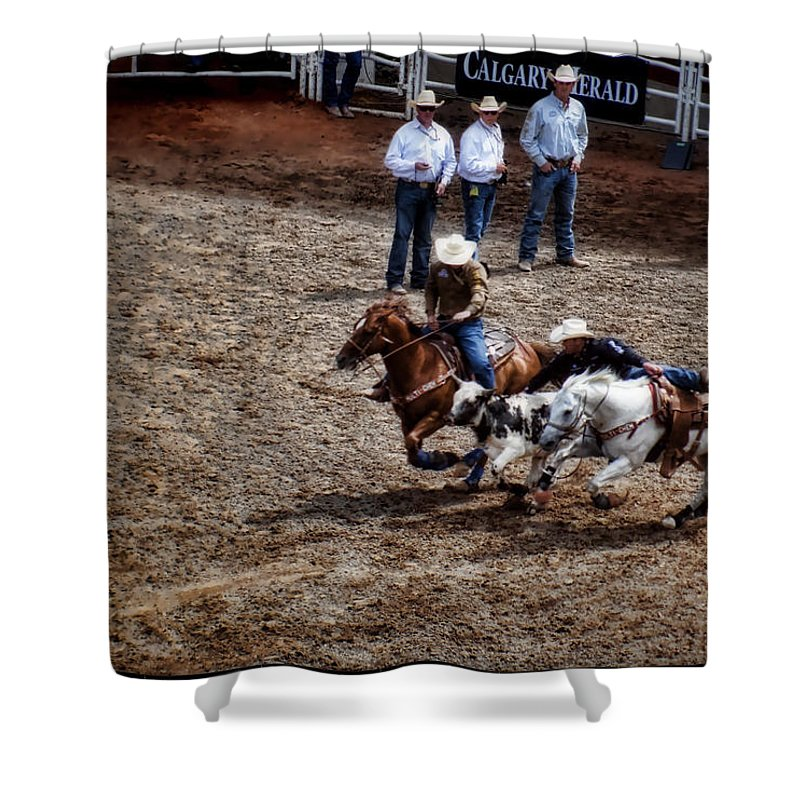 Calgary Stampede Shower Curtain featuring the digital art Calgary Stampede by Diane Dugas