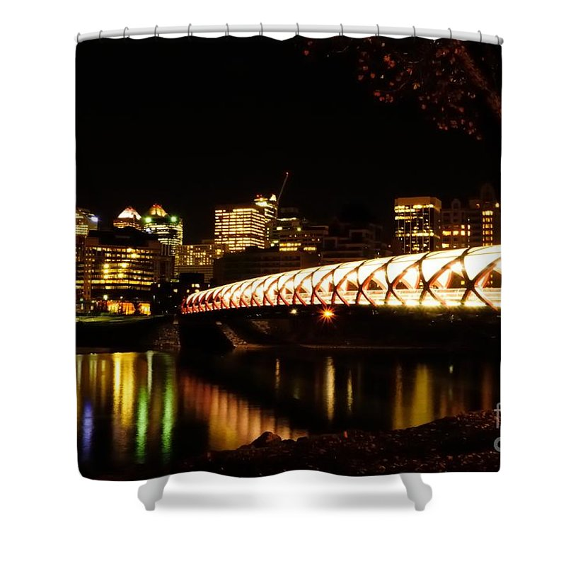 Calgary Shower Curtain featuring the photograph Calgary's Peace Bridge by Vivian Christopher