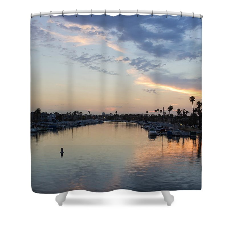 Naples Island Shower Curtain featuring the photograph California Sunset by Heidi Smith