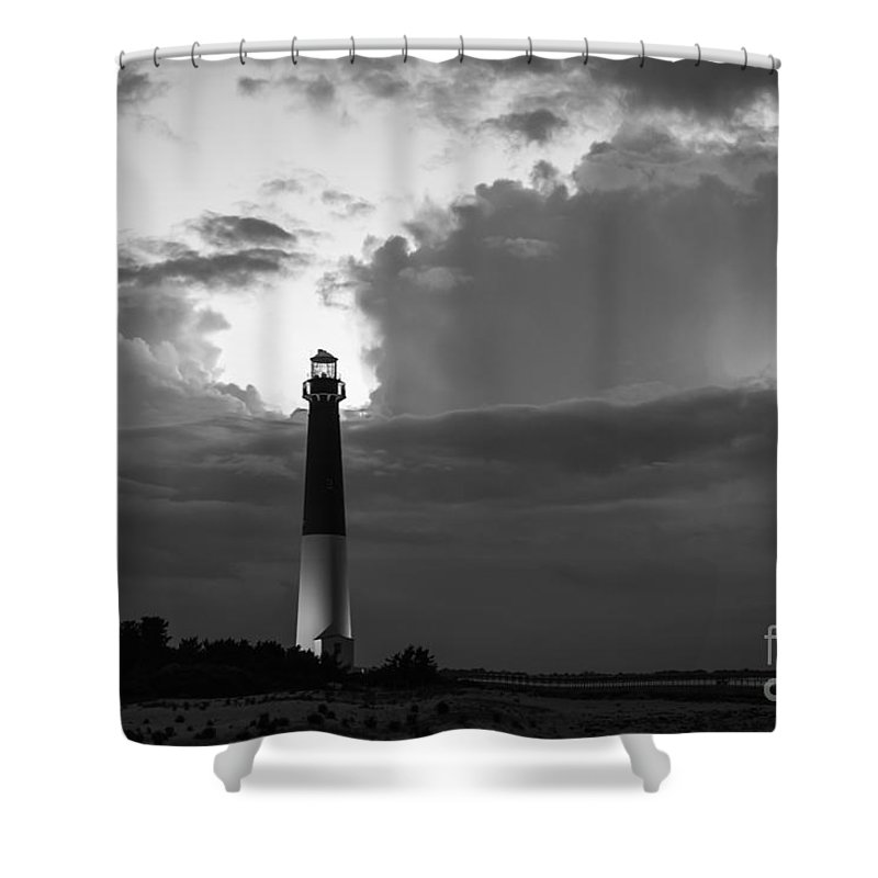 Barnegat Lighthouse Shower Curtain featuring the photograph Calm Before The Storm by Michael Ver Sprill