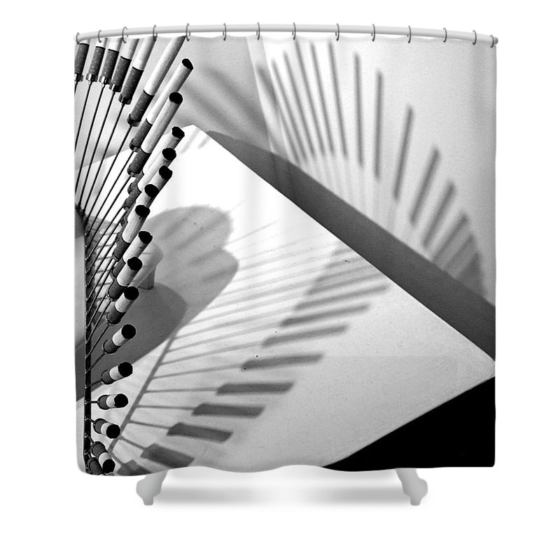 Abstract Shower Curtain featuring the photograph Calypso by Lauren Leigh Hunter Fine Art Photography