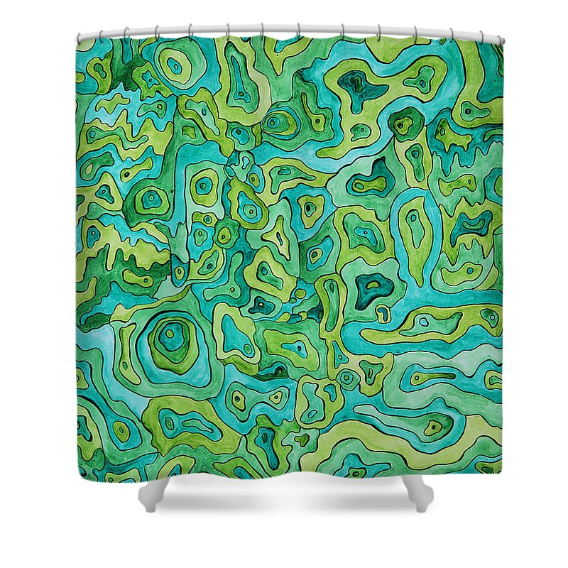 Camouflage Shower Curtain featuring the painting Camo by Amy Nelson