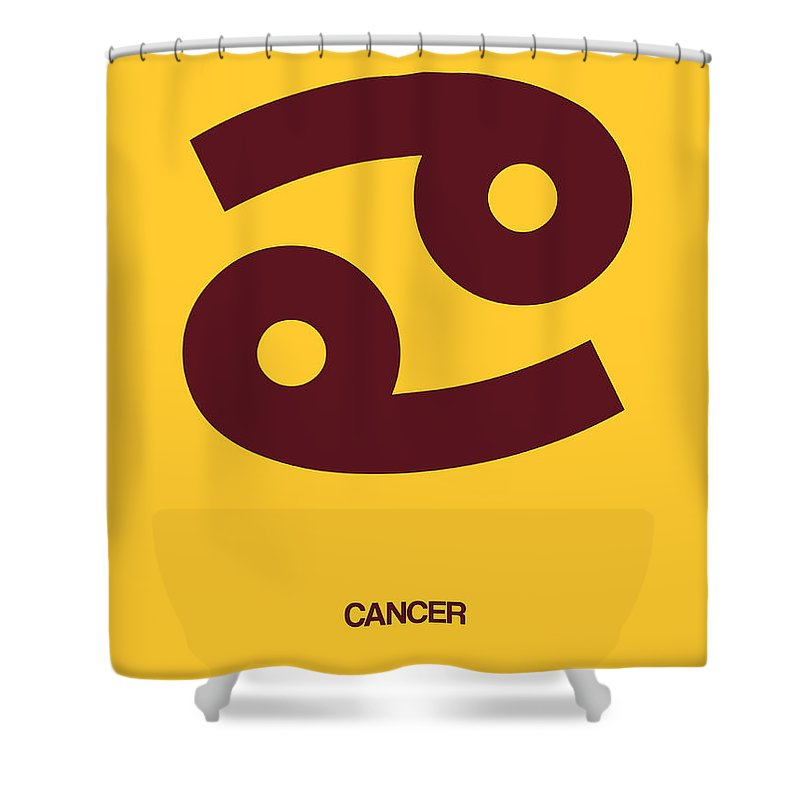 Cancer Shower Curtain featuring the digital art Cancer Zodiac Sign Brown by Naxart Studio