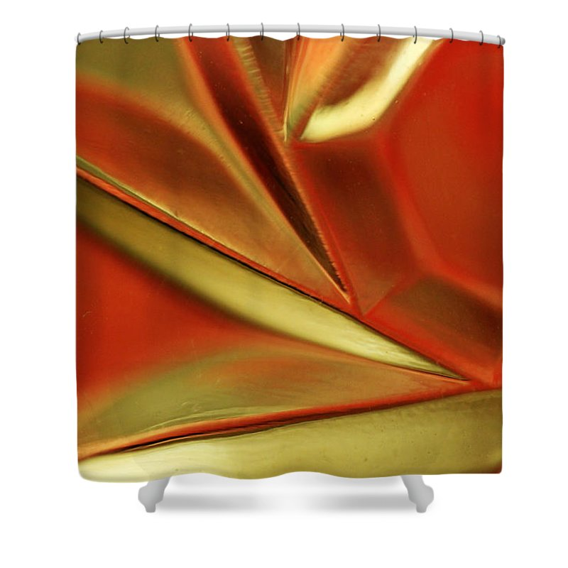 Crystal Shower Curtain featuring the photograph Candle Holder 14 by Mary Bedy