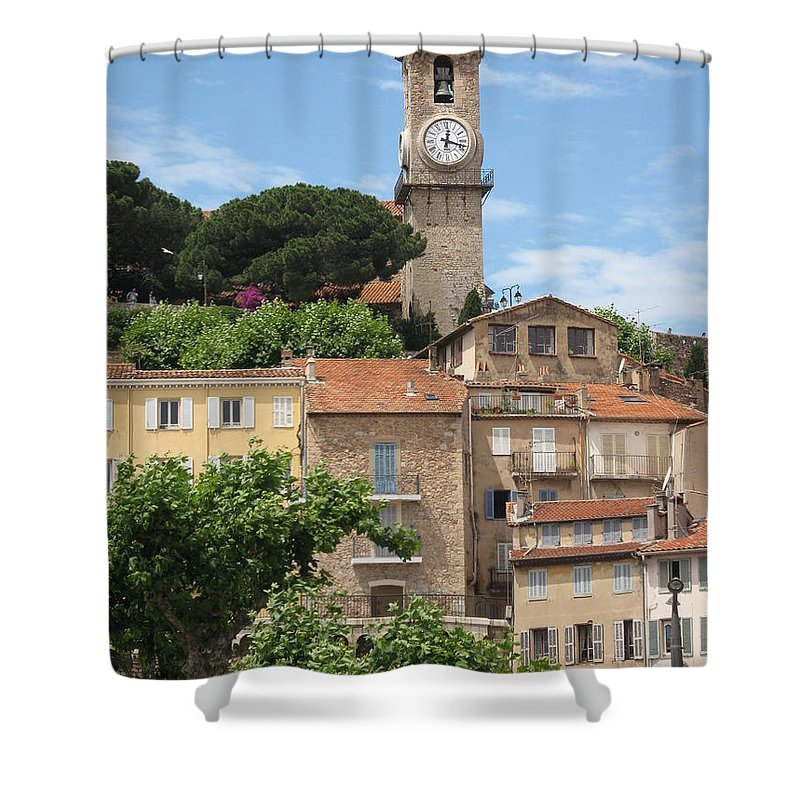 Cannes Shower Curtain featuring the photograph Cannes by Christiane Schulze Art And Photography