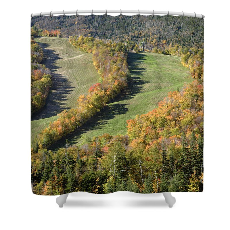 Mountain Shower Curtain featuring the photograph Cannon Mountain - White Mountains New Hanpshire by Erin Paul Donovan