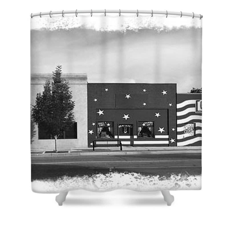 Colorado Shower Curtain featuring the photograph Canon City Facades - Black And White Edge Burn by Rich Walter
