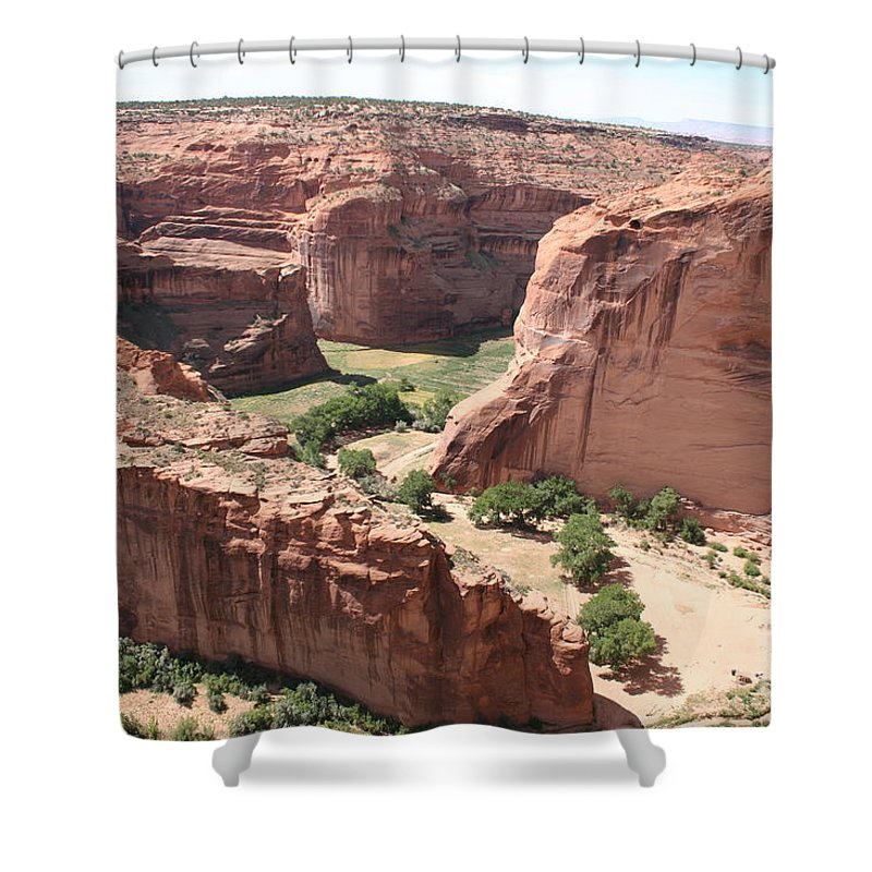 Canyon Shower Curtain featuring the photograph Canyon de Chelly Arizona by Christiane Schulze Art And Photography