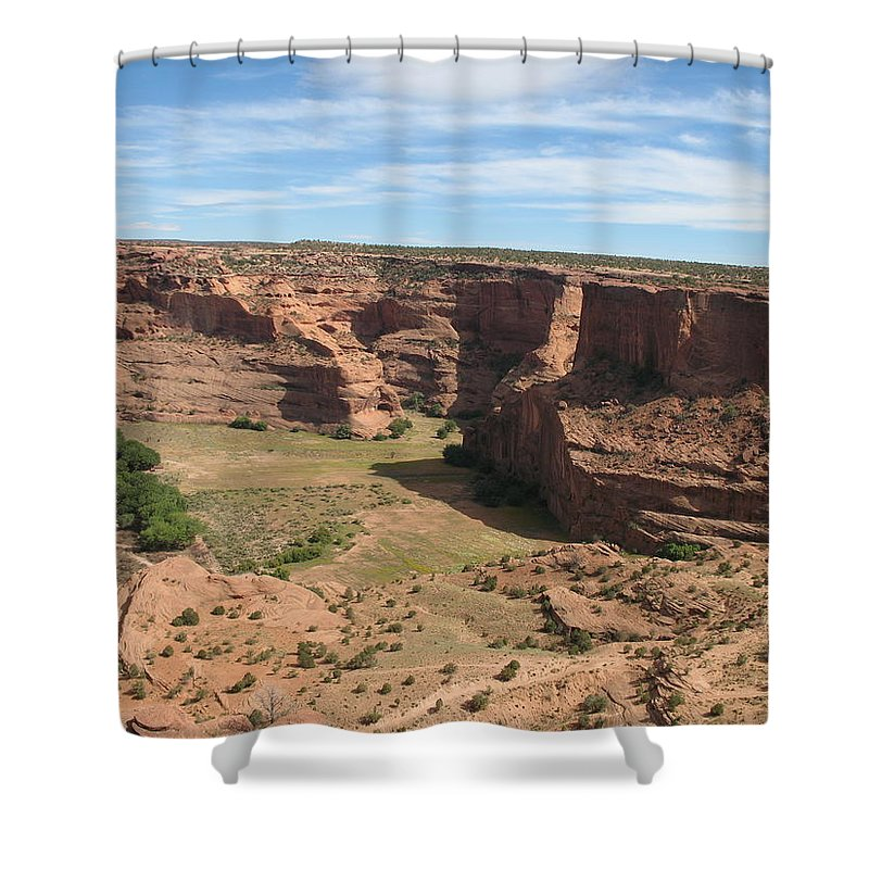Canyon Shower Curtain featuring the photograph Canyon De Chelly View by Christiane Schulze Art And Photography