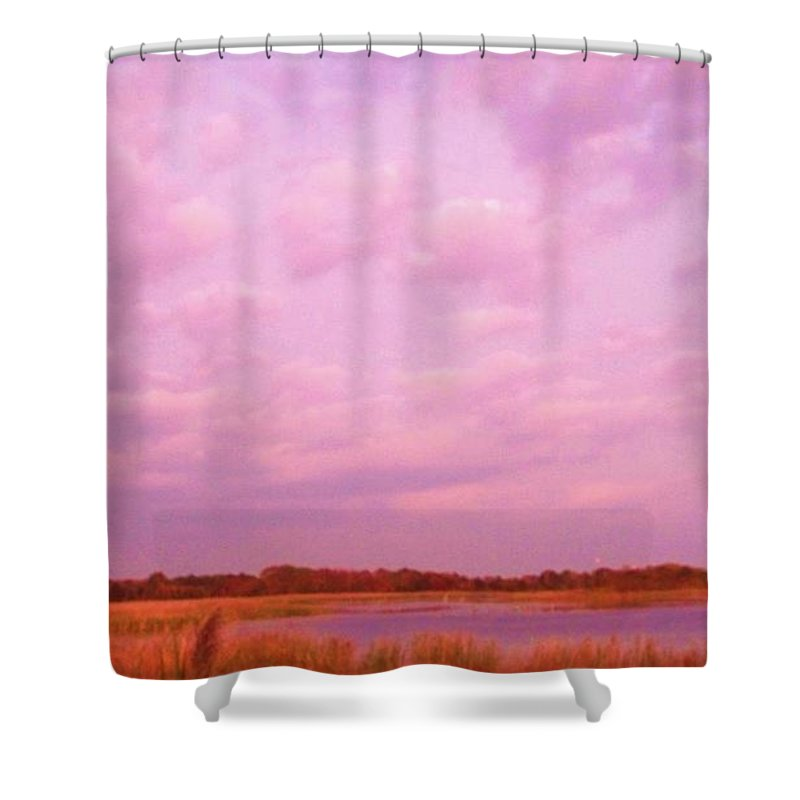 Cape May Point State Park Shower Curtain featuring the photograph Cape May Point State Park Landscape by Eric Schiabor