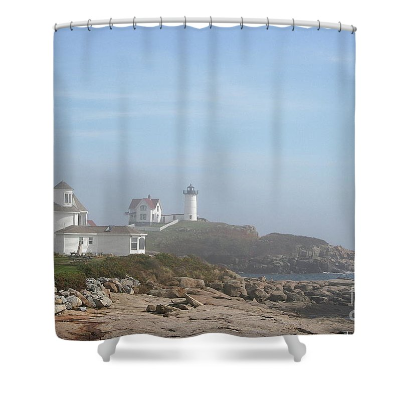 Lighthouse Shower Curtain featuring the photograph Cape Neddick Lighthouse IIi by Christiane Schulze Art And Photography