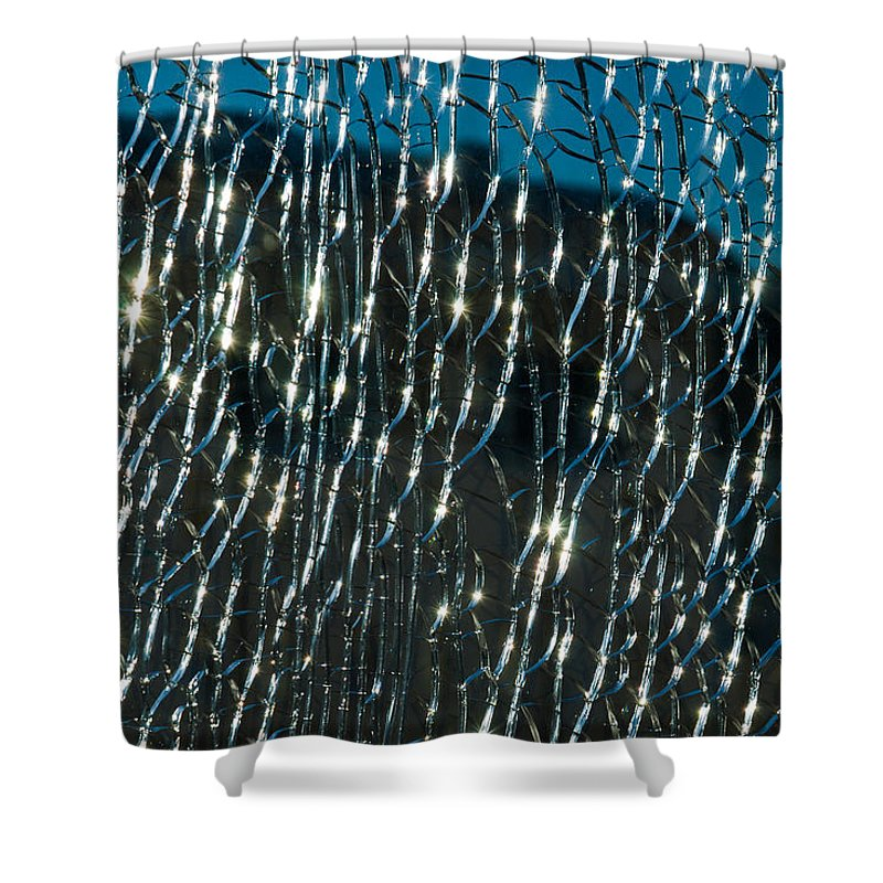 Abstract Shower Curtain featuring the photograph Captured Sun by Alexander Senin