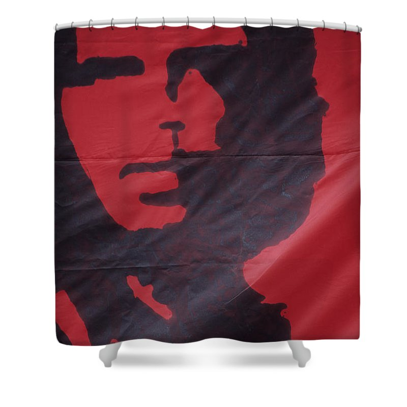Che Guevara Shower Curtain featuring the photograph Caring Che by James Brunker