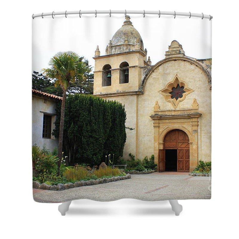 Carmel Mission Church Shower Curtain featuring the photograph Carmel Mission Church by Carol Groenen