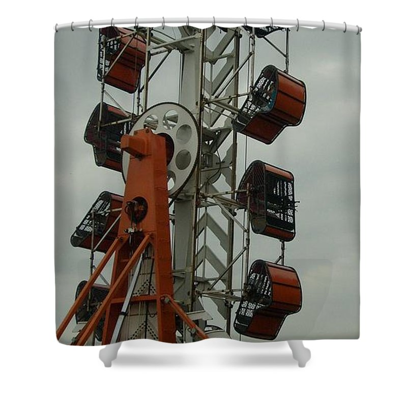 Carnival Framed Print Shower Curtain featuring the photograph Carnival Zipper by Ann Willmore
