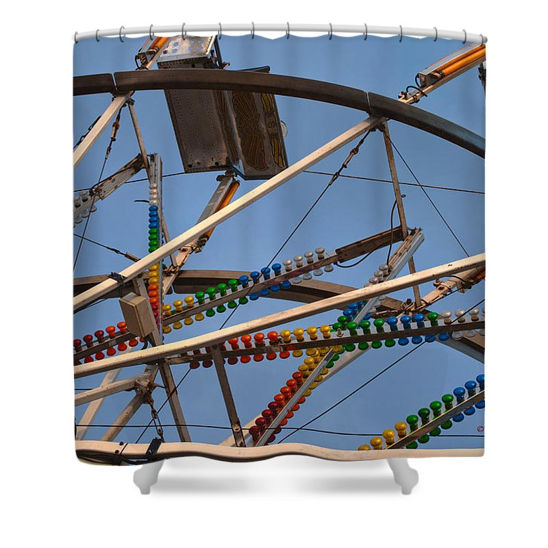 Interior Design Shower Curtain featuring the photograph Carny Ride by Paulette B Wright