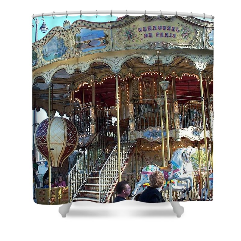 Paris Shower Curtain featuring the photograph Carrousel De Paris by Barbara McDevitt
