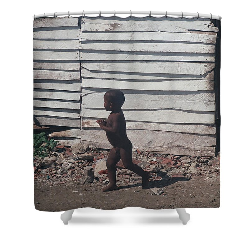 Boy Shower Curtain featuring the photograph Cartagena Child by David Cardona