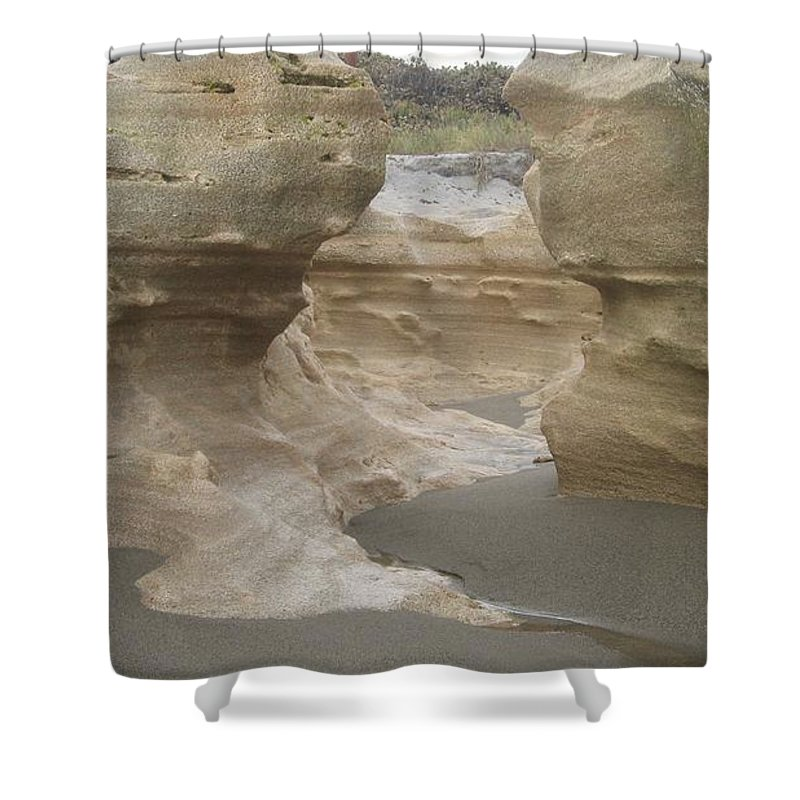 Jupiter Shower Curtain featuring the photograph Carved In Stone by Catie Canetti